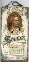 SCHILLER CALENDAR FOR 1898