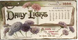 DAILY LIGHT CALENDAR FOR 1898