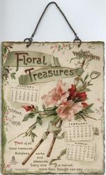 FLORAL TREASURES CALENDAR FOR 1898