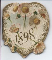 1898 white and pink flowers