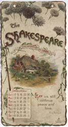 THE SHAKESPEARE CALENDAR FOR 1898