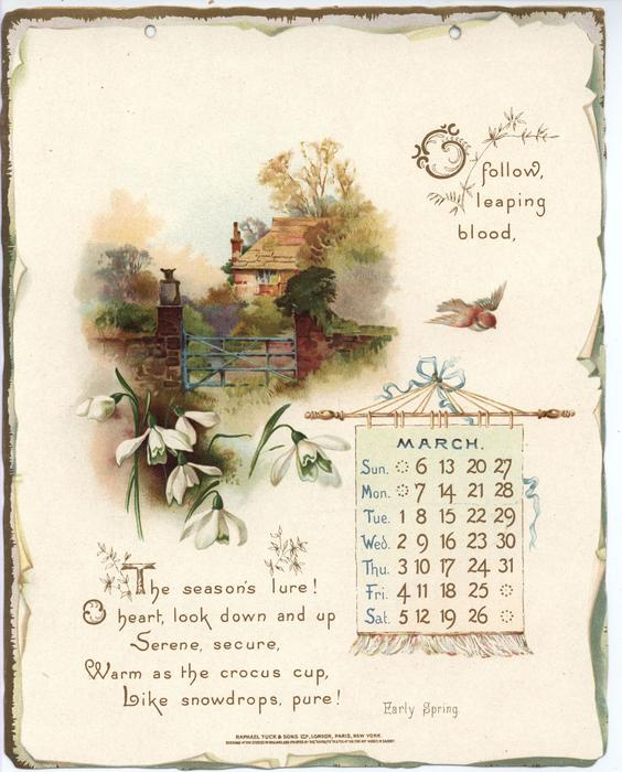 golden words from tennyson calendar for 1898