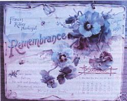REMEMBRANCE CALENDAR FOR 1898