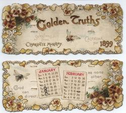 GOLDEN TRUTHS CALENDAR FOR 1899