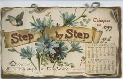 STEP BY STEP CALENDAR FOR 1899