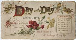 DAY UNTO DAY CALENDAR FOR 1899