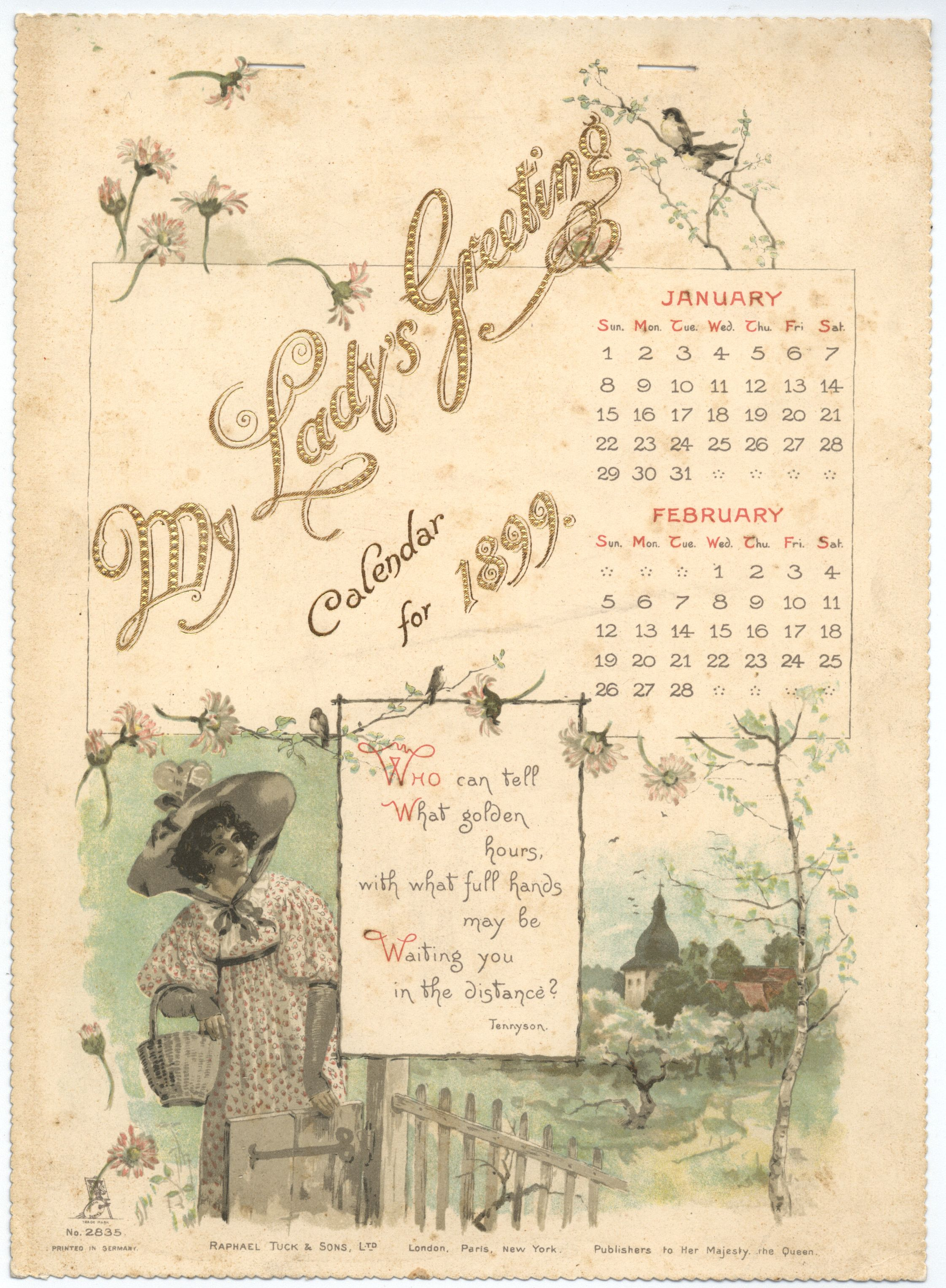 MY LADY'S GREETING CALENDAR FOR 1899