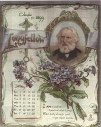 LONGFELLOW CALENDAR FOR 1899