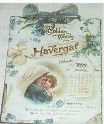 GOLDEN WORDS FROM HAVERGAL CALENDAR FOR 1899
