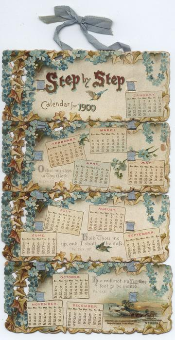 STEP BY STEP CALENDAR FOR 1900