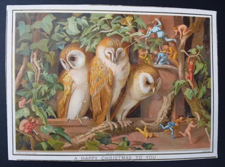imps attacking three owls