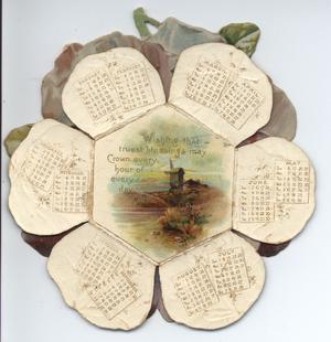 PANSY PETALS CALENDAR FOR 1900