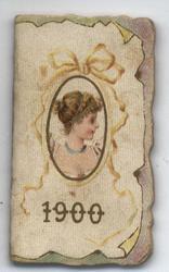1900 art nouveau lady in cameo