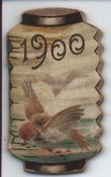 1900 two birds in flight