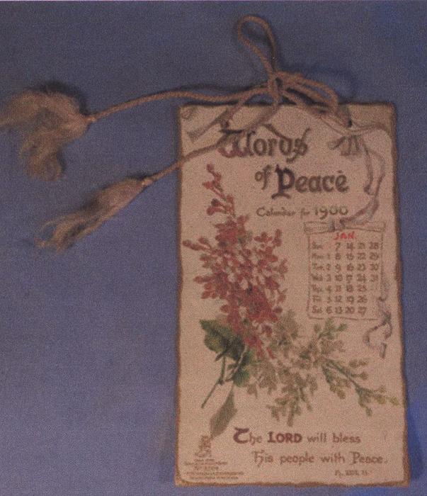 WORDS OF PEACE CALENDAR FOR 1900