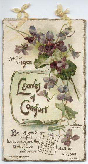 LEAVES OF COMFORT CALENDAR FOR 1901