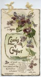 LEAVES OF COMFORT CALENDAR FOR 1901