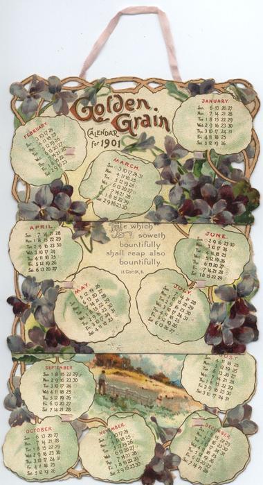 GOLDEN GRAIN CALENDAR FOR 1901