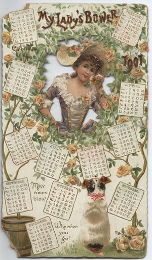 MY LADY'S BOWER CALENDAR FOR 1901