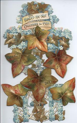 THE FORGET-ME-NOT CALENDAR FOR 1901
