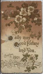 DAILY MAY GOOD FORTUNE TEND YOU CALENDAR FOR 1901