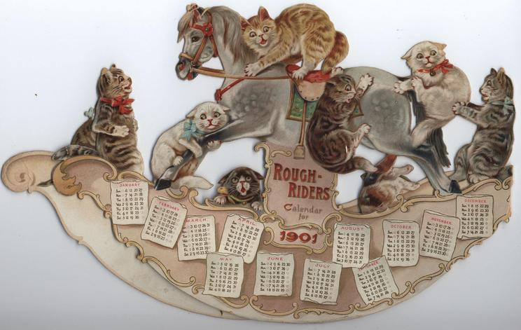 ROUGH-RIDERS CALENDAR FOR 1901