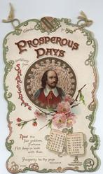 PROSPEROUS DAYS QUOTES FROM SHAKESPEARE CALENDAR FOR 1901