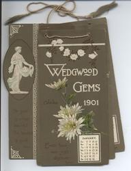 WEDGWOOD GEMS CALENDAR FOR 1901