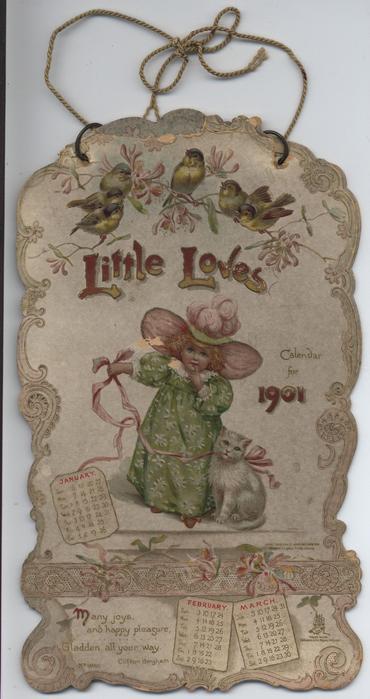 LITTLE LOVES CALENDAR FOR 1901