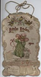 LITTLE LOVES CALENDAR FOR 1901