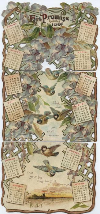 HIS PROMISE CALENDAR FOR 1901
