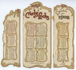 CURLY LOCKS CALENDAR FOR 1902