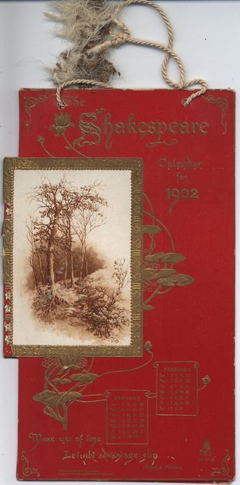 THE SHAKESPEARE CALENDAR FOR 1902