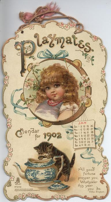 PLAYMATES CALENDAR FOR 1902