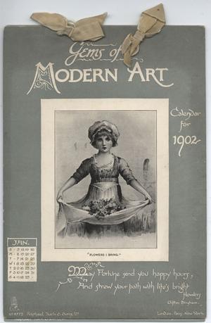 GEMS OF MODERN ART CALENDAR FOR 1902