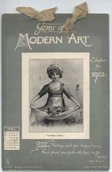 GEMS OF MODERN ART CALENDAR FOR 1902
