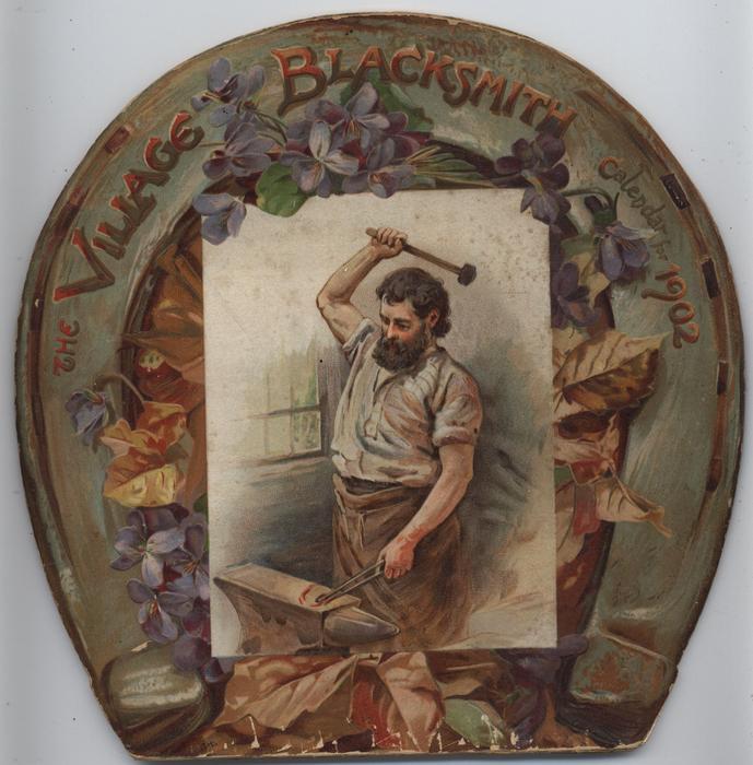THE VILLAGE BLACKSMITH CALENDAR FOR 1902