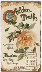 GOLDEN TRUTHS CALENDAR FOR 1902