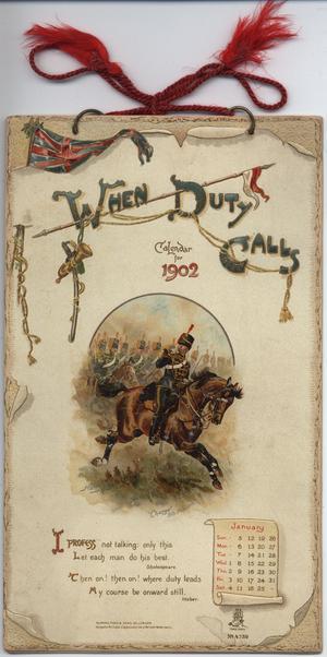 WHEN DUTY CALLS CALENDAR FOR 1902