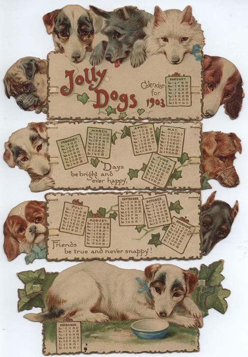JOLLY DOGS CALENDAR FOR 1903