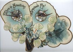 WHEN THE SWALLOWS HOMEWARD FLY CALENDAR FOR 1903