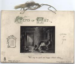 GEMS OF ART CALENDAR FOR 1903