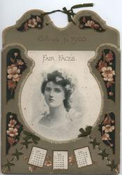 FAIR FACES CALENDAR FOR 1903