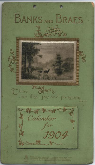 BANKS AND BRAES CALENDAR FOR 1904