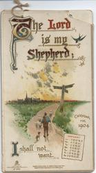 THE LORD IS MY SHEPHERD CALENDAR FOR 1904