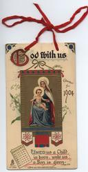GOD WITH US CALENDAR FOR 1904