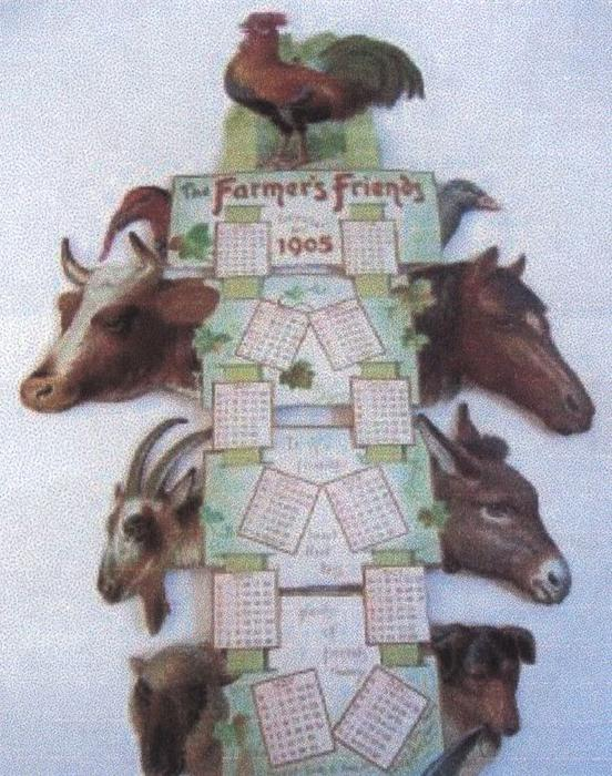 THE FARMER'S FRIENDS CALENDAR FOR 1905