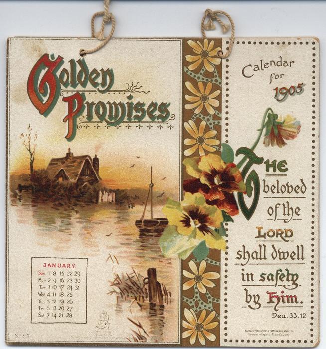 GOLDEN PROMISES CALENDAR FOR 1905