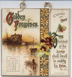 GOLDEN PROMISES CALENDAR FOR 1905