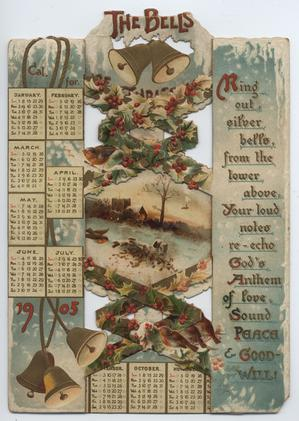 THE BELLS OF CHRISTMAS CAL. FOR 1905